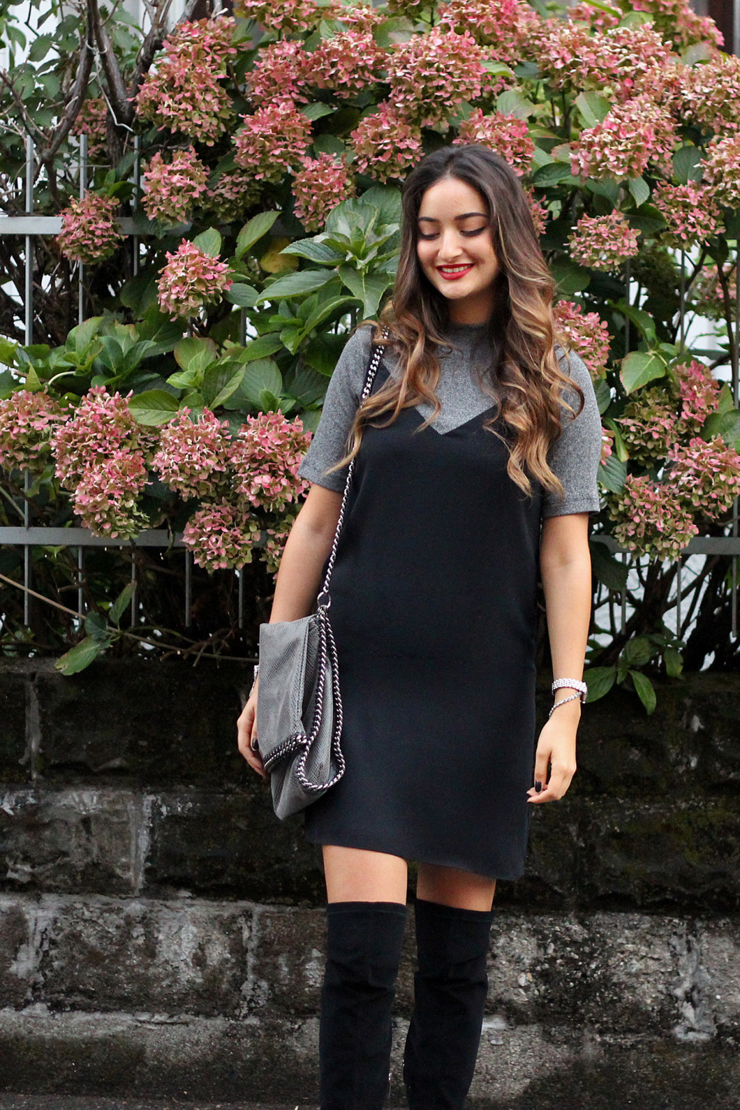 Layering Dresses over Shirts or Turtlenecks for Autumn