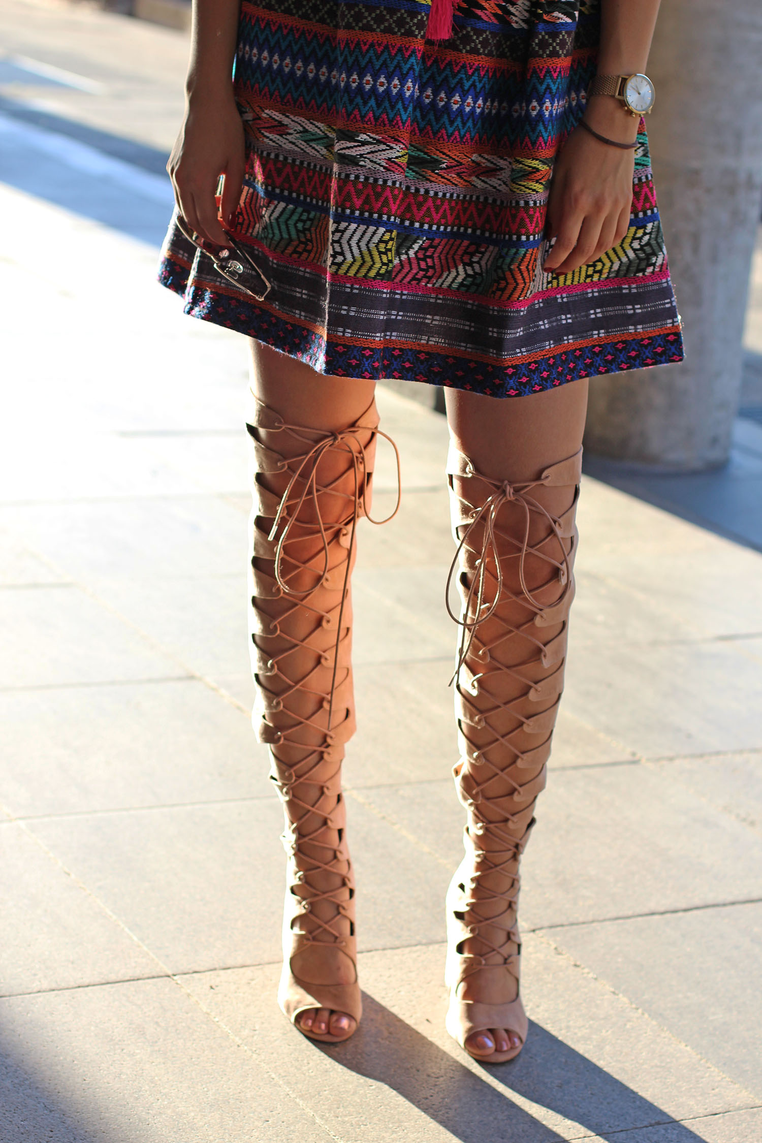 Lace up Overknees
