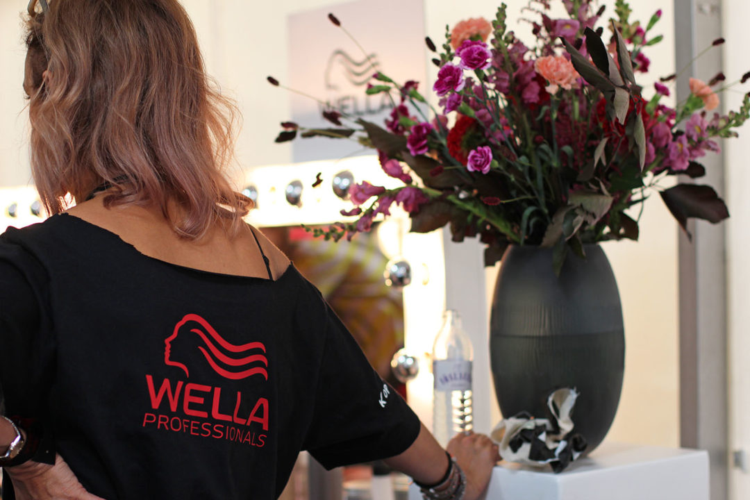 Backstage with Wella Professionals at Berlin Fashion Week