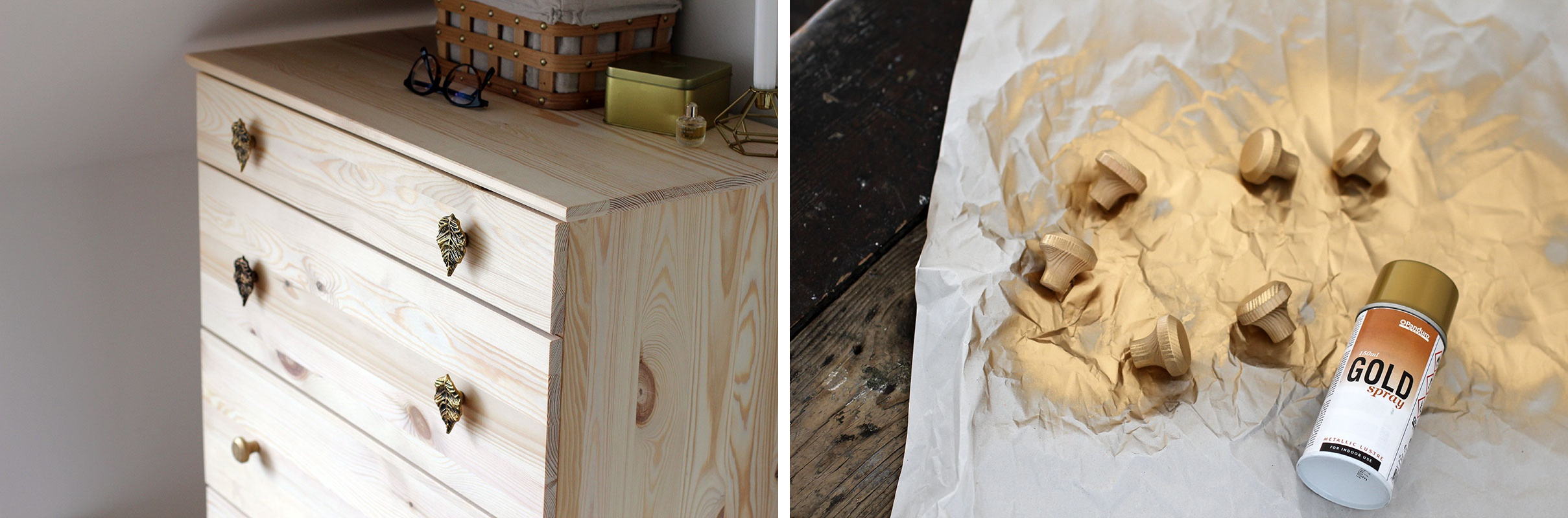 ikea tarva kommode tarva chest ikea goldspray hacjs three super easy and quick hacks you need to try out