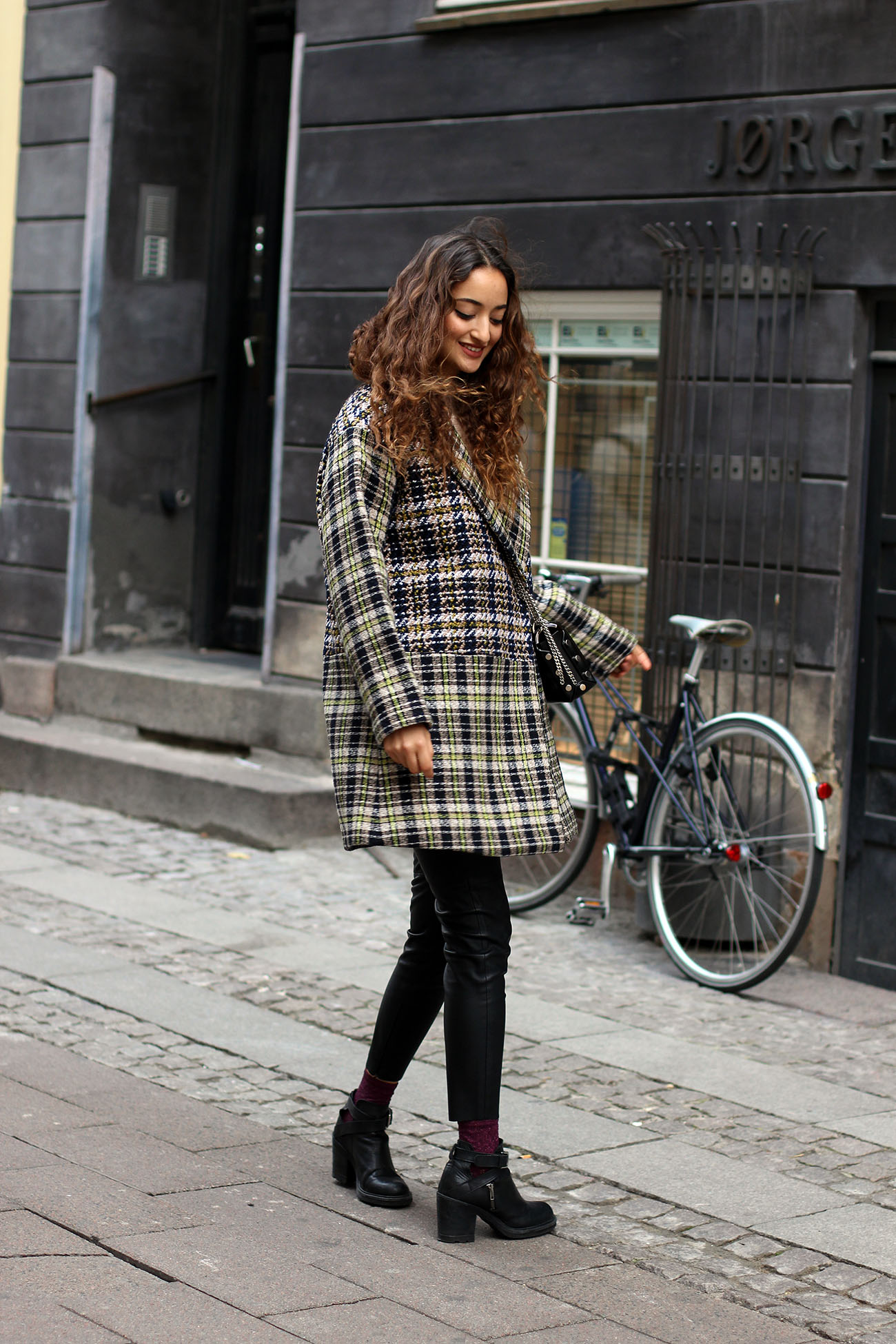 Plaid Coat Autumn